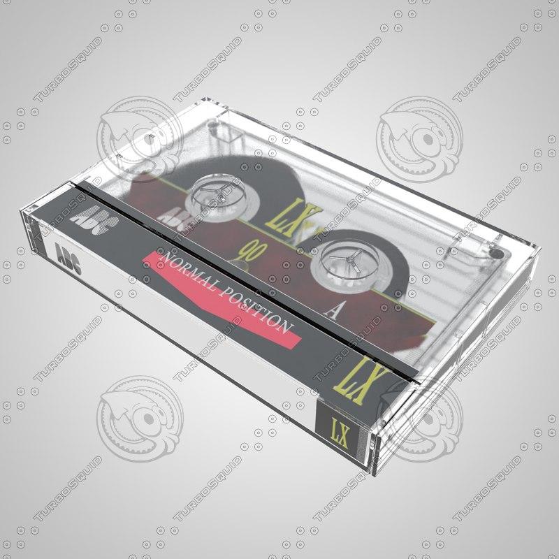 cassette tape compact 3d model