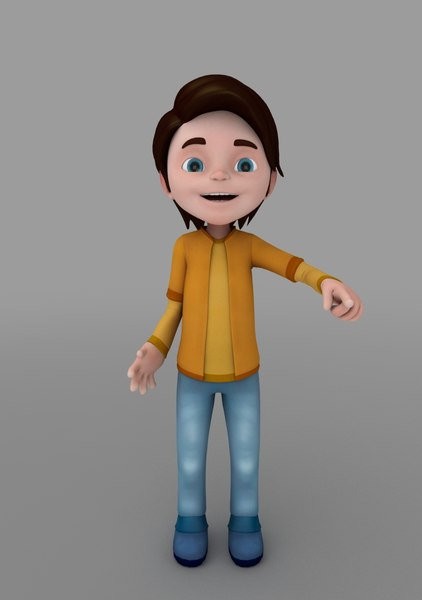 3d model rigged animate
