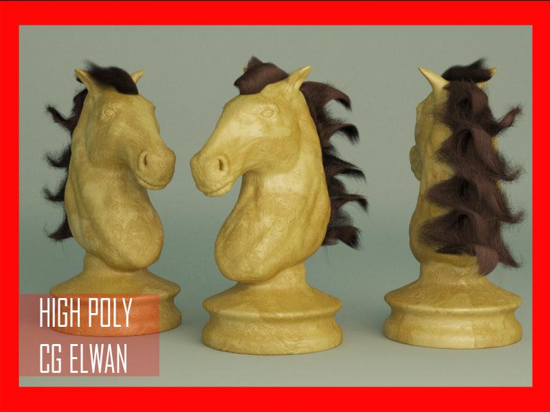 horse zbrush v-ray max