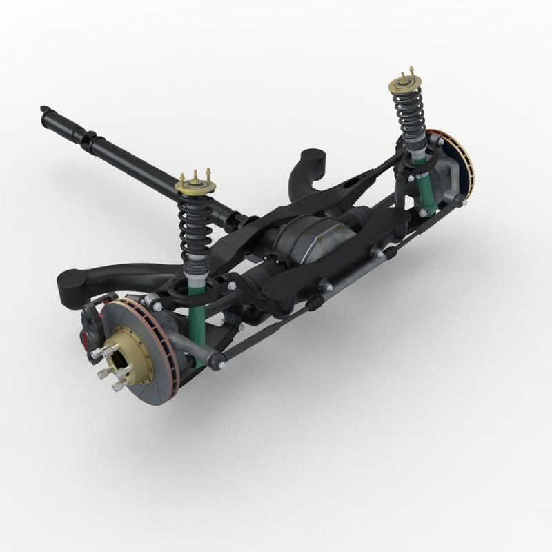 3d suspension differential shock
