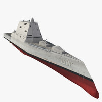 uss michael monsoor ddg-1001 3d model