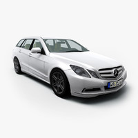 e class estate mercedes 3d model