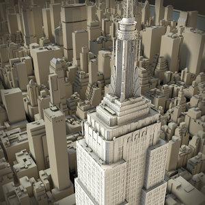 3d new york manhattan model