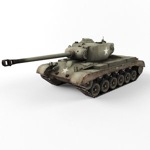 pershing wwii m26 3d max