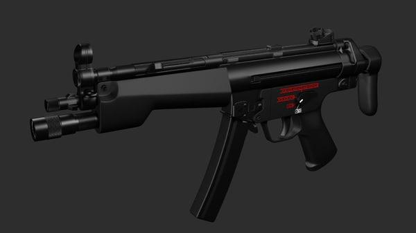 3d h k mp5 model