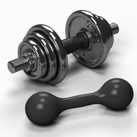 dumb bell dumbbell 3d max