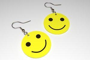 3d earrings emoticons model