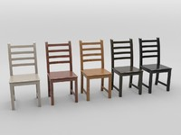 Wooden chair (5 materials)