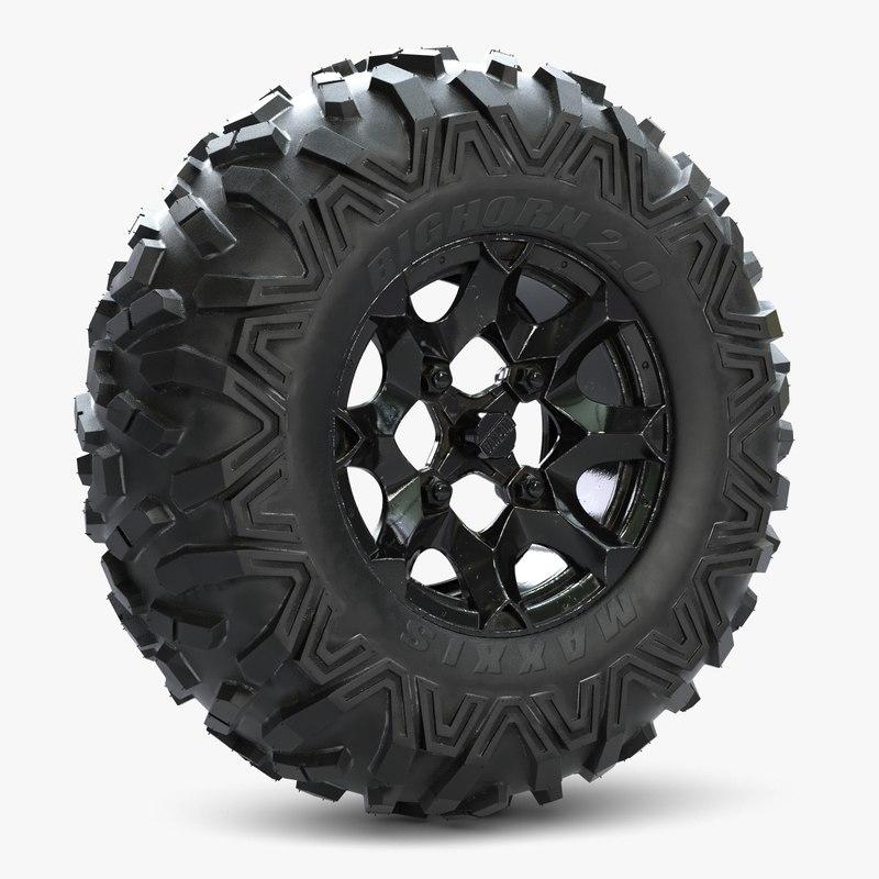 3d wheel bighorn model