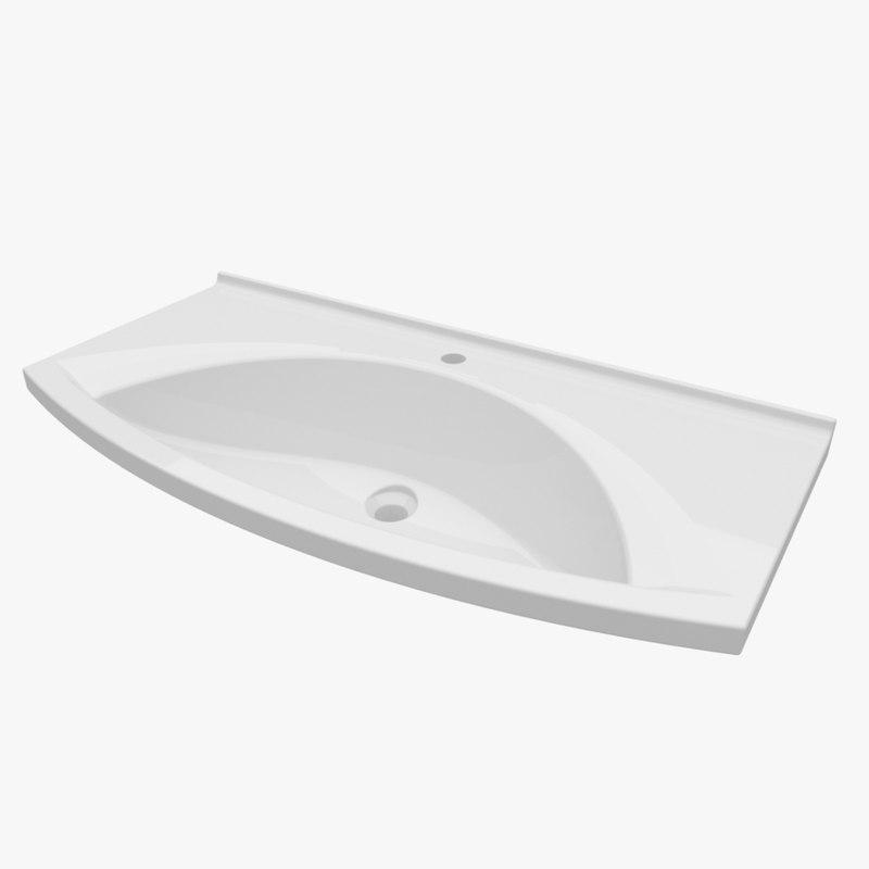 washbasin 1000 395 3d model