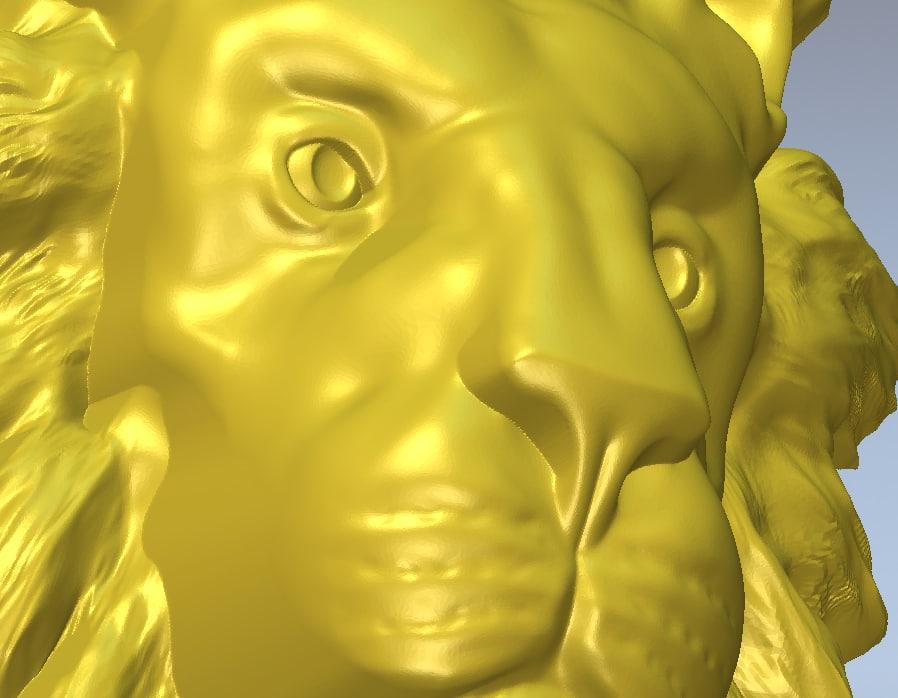 3d model lionhead milling cnc
