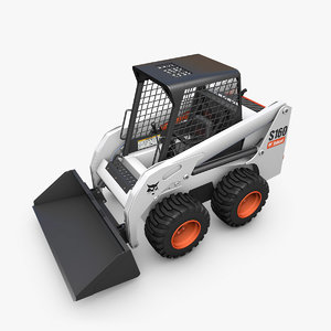 bobcat s160 loader cat s 3d model