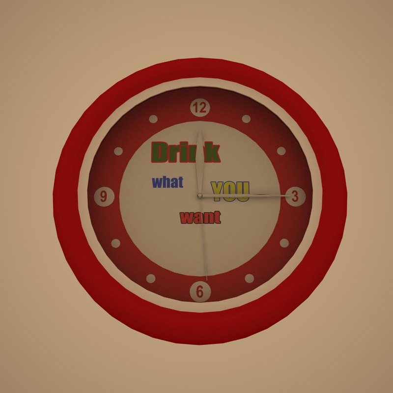 3d wall clock 1 model