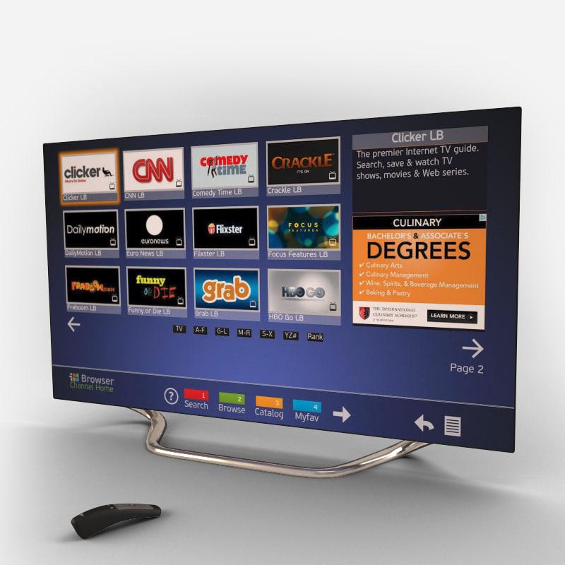 55 inch tv set 3d max