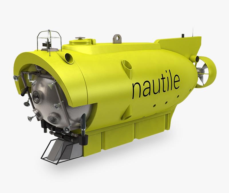 nautile submersible 3d model