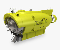 nautile submersible 3d model