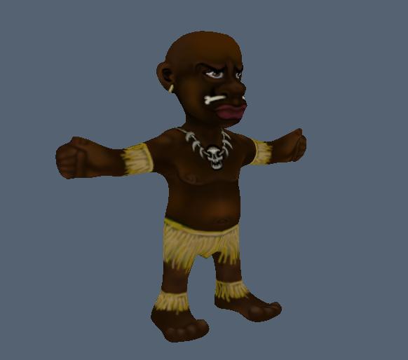 free cartoon native 3d model