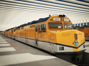 ski train - locomotive max