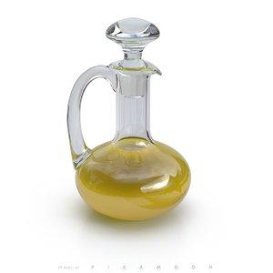 olive carafe 3d model