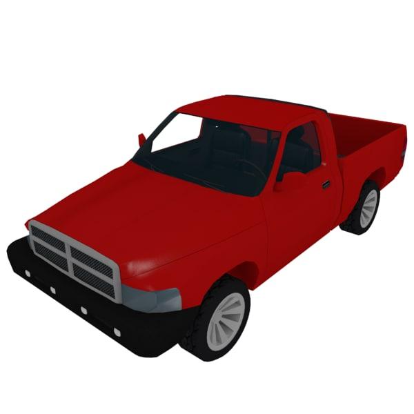 pickup truck suv 3d model