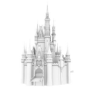 3d model cinderella castle