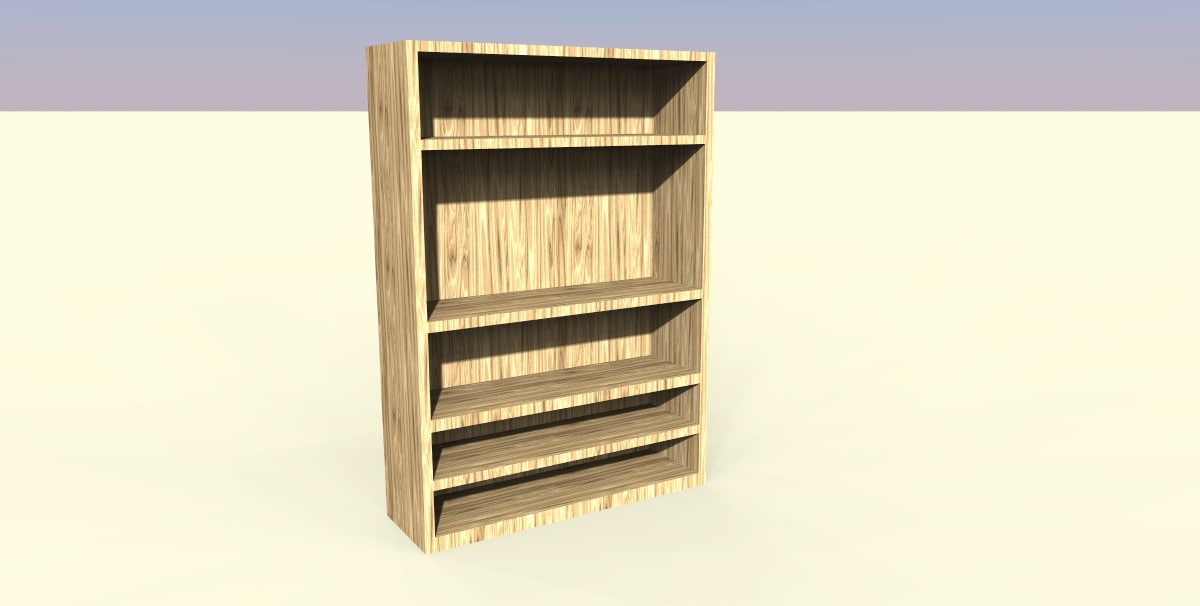 3ds max wood book case