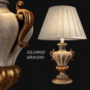 3d model silvano grifoni lamp