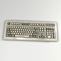 old keyboard 3d model