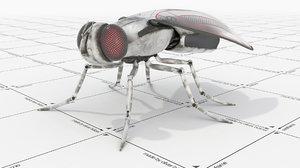 robot fly 3d model