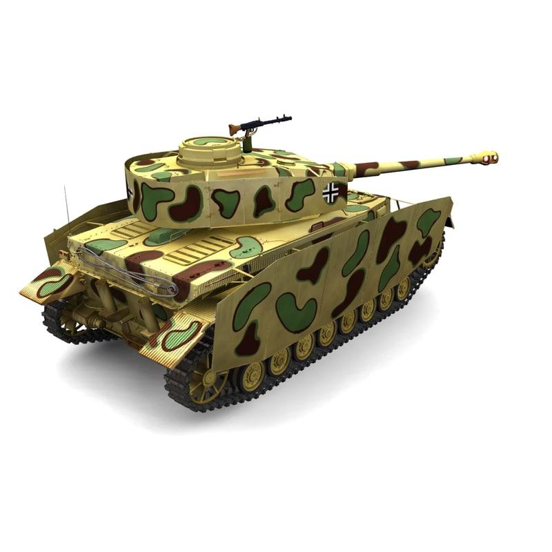 panzer iv h sd 3d model