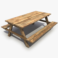 3d table wood wooden