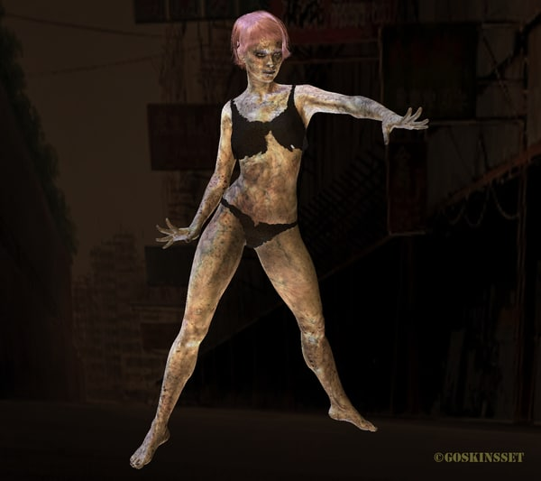 3d zombie undead model