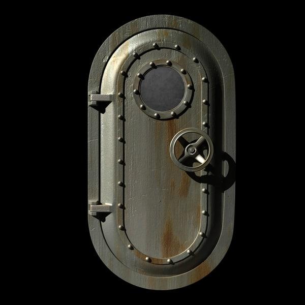 3ds max steel door