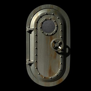 3ds max steel door