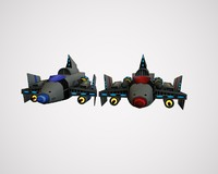 spaceship cruiser sci-fi space 3d 3ds