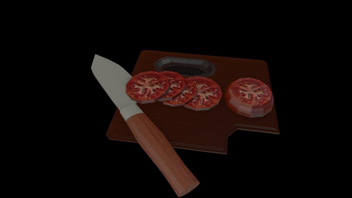 bundled tomato 3d model