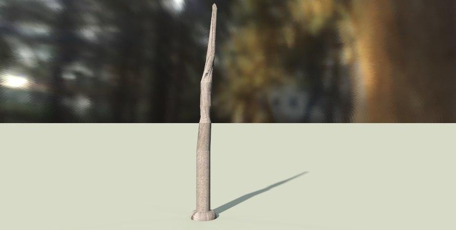 wand 3d obj
