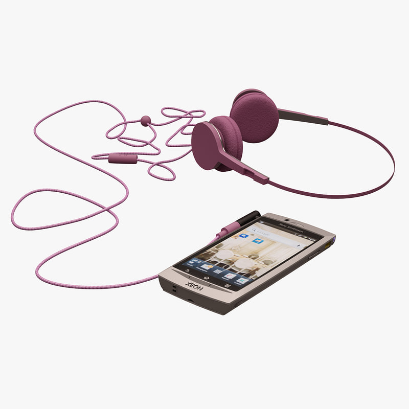 telephone headphone xeon 3d max