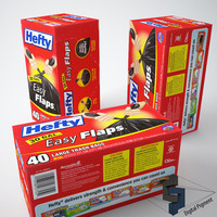 3d model hefty trash bags box
