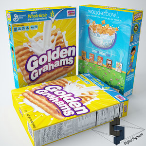 3ds max general golden grahams cereal box