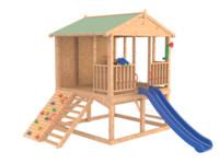 wooden house 3d blend