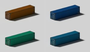 industrial shipping container 3d model