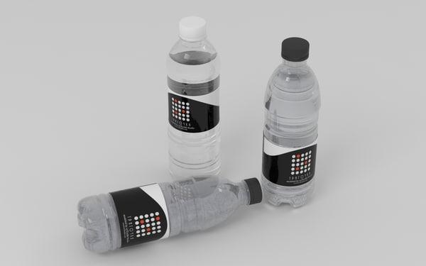 free water bottles 3d model