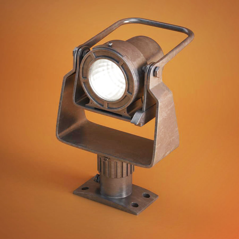 3d industrial lamp