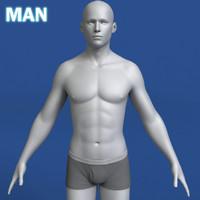 Mann 3d Modell