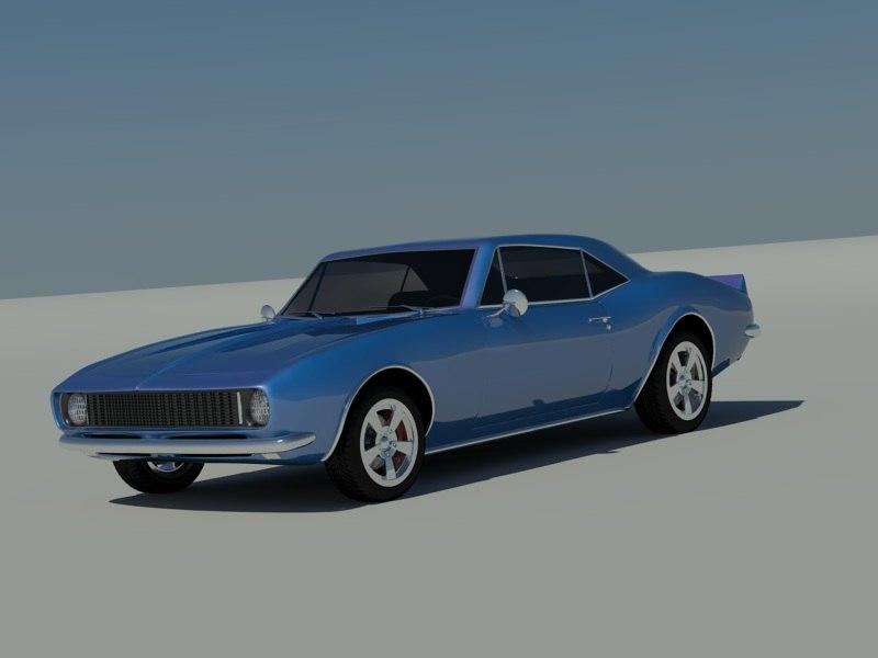 camaro 1969 69 3d max