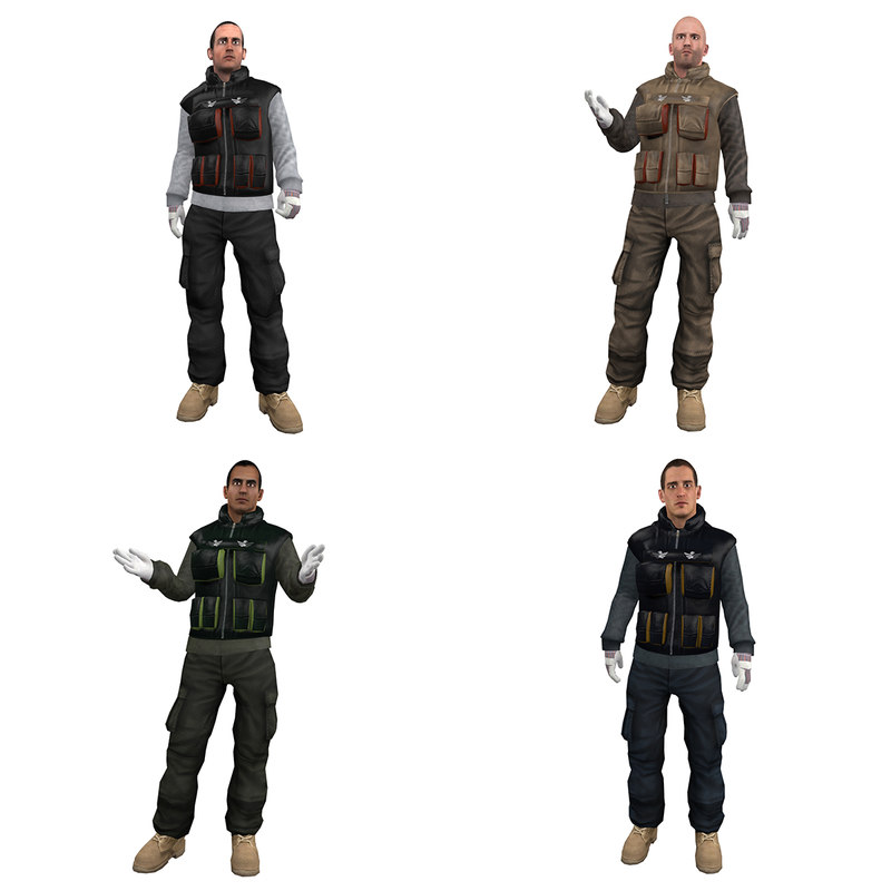 3ds max pack rigged worker man