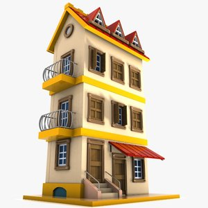 3ds max cartoon house toon
