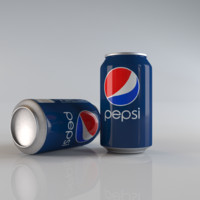 3d pepsi aluminum modeled
