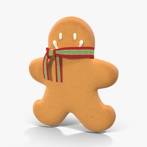 gingerbread cookie 05 3d model